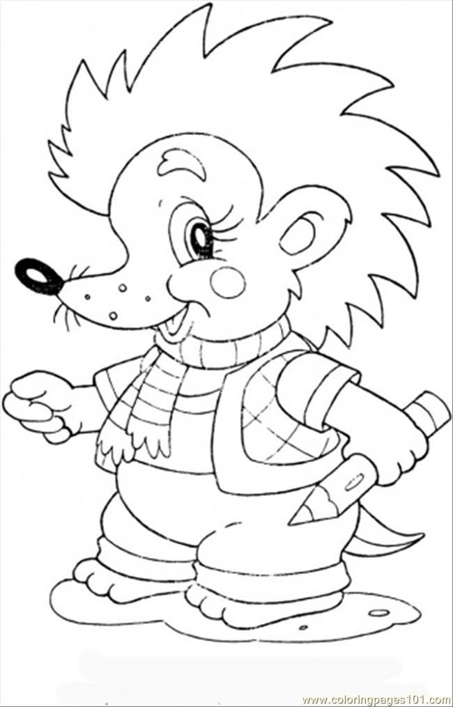 Baby Hedgehog Coloring Page