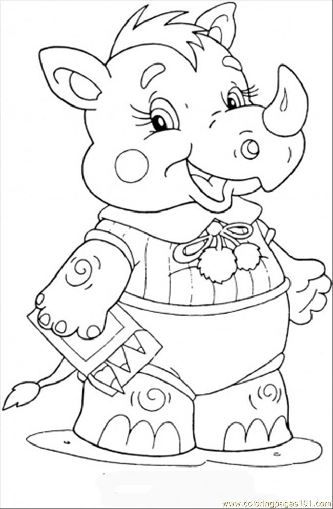 Baby Rhinoceros Coloring Page