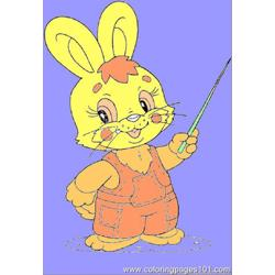 Leveret Free Coloring Page for Kids