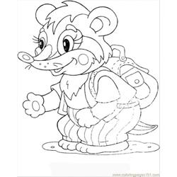 Baby Badger Free Coloring Page for Kids