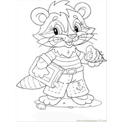 Baby Coon Free Coloring Page for Kids