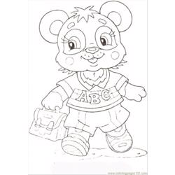 Baby Panda Free Coloring Page for Kids