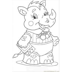Baby Rhinoceros Free Coloring Page for Kids