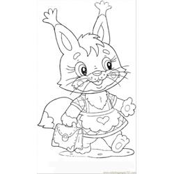Baby Squirrel Free Coloring Page for Kids