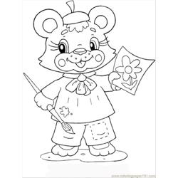 Bear Cub Free Coloring Page for Kids