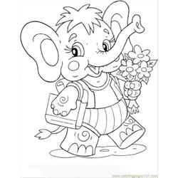Elephant Calf Free Coloring Page for Kids