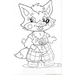 Fox Cub Free Coloring Page for Kids