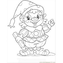 Gnome coloring page