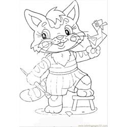 Kitten Free Coloring Page for Kids