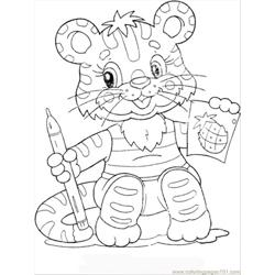 Kitten Smile Free Coloring Page for Kids