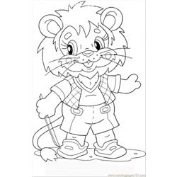 Lion Cub Free Coloring Page for Kids