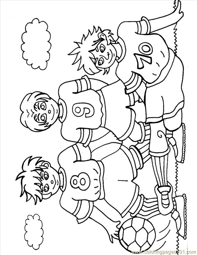 31 Footballers Source Hbh Coloring Page
