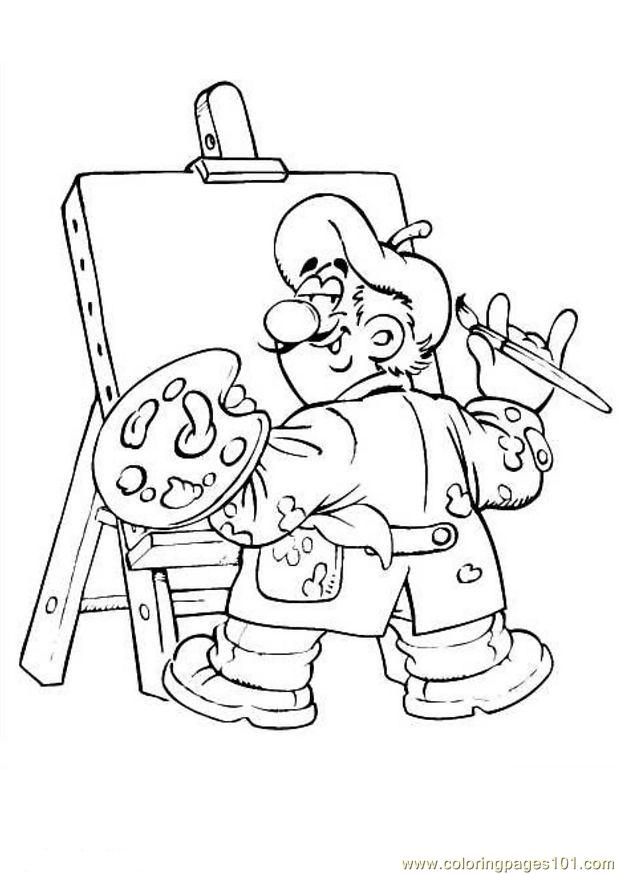 Beroep 54 Coloring Page