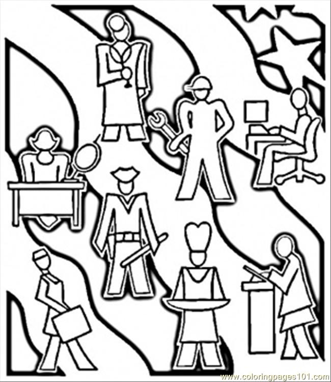 Careers Coloring Page
