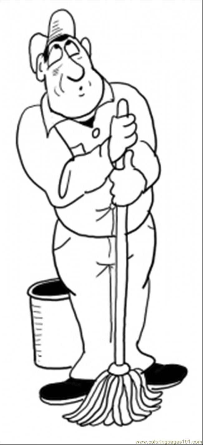 Cleaner Coloring Page