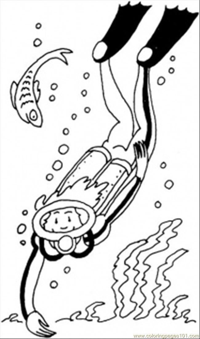 Diver Coloring Page - Free Profession Coloring Pages ...