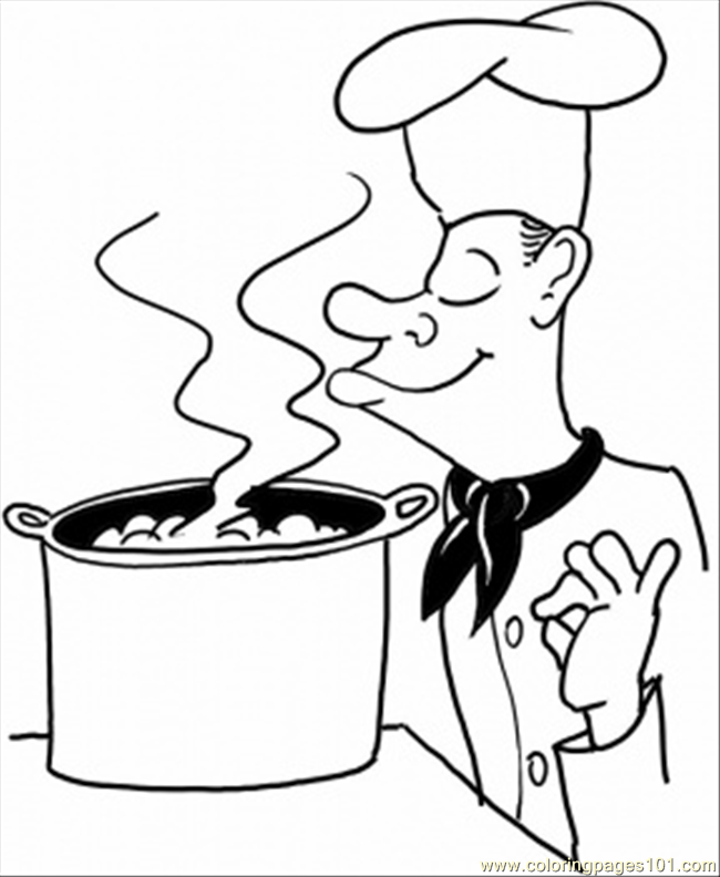 Good Cook Coloring Page