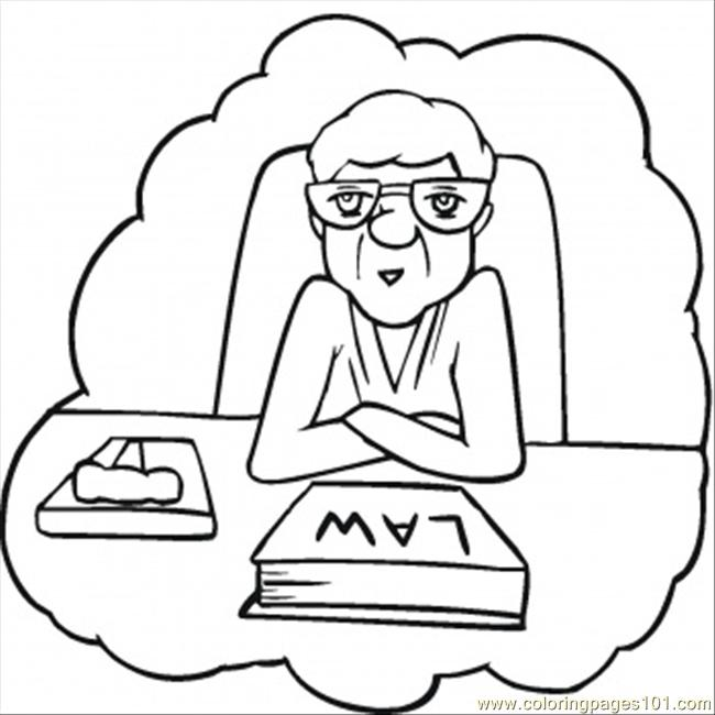 Lawyer Coloring Page