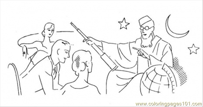 Lesson For Astronomers Coloring Page