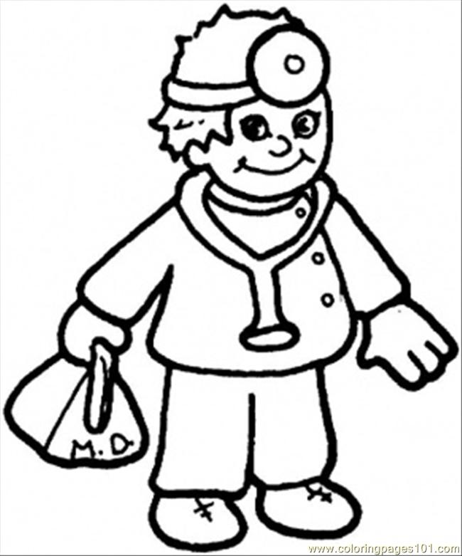 Nice Doctor Coloring Page