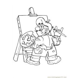 Beroep 54 Free Coloring Page for Kids