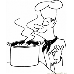 French Soup coloring page