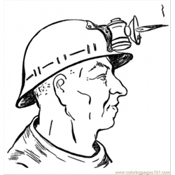 Mine Worker coloring page