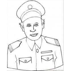 Navy Man coloring page