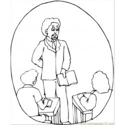 Teacher In The Class coloring page
