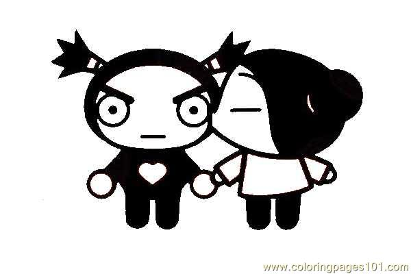 pucca 01 coloring page free pucca coloring pages