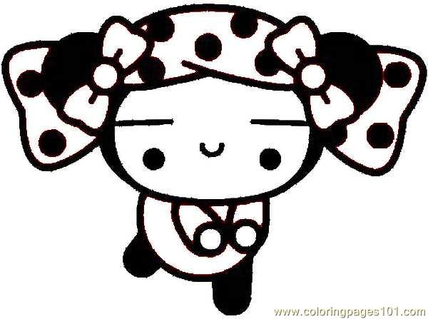 Pucca 02 Coloring Page