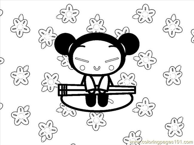 Pucca 04 Coloring Page