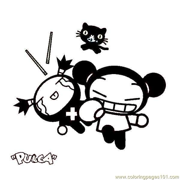 Pucca Characters Coloring Pages
