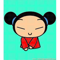 Pucca001 (4) Free Coloring Page for Kids