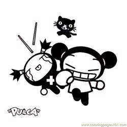 Pucca 05 coloring page