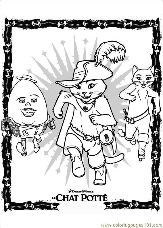 Puss In Boots 09 Coloring Page