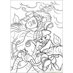 Puss In Boot 20 coloring page