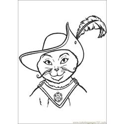 Puss In Boots 04 Free Coloring Page for Kids