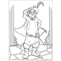 Puss In Boots 05 Free Coloring Page for Kids