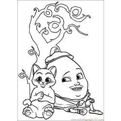 Puss In Boots 10 Free Coloring Page for Kids