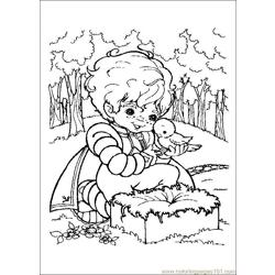 Rainbow Bright Free Coloring Page for Kids