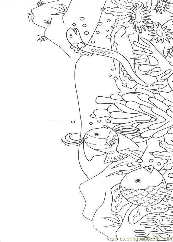Rainbow Fish001 (8) Coloring Page