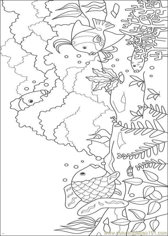 Rainbow Fish 02 Coloring Page