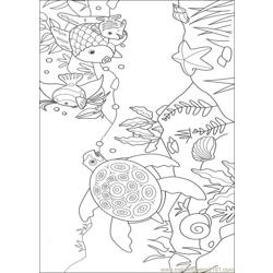 Rainbow Fish001 (4) Free Coloring Page for Kids
