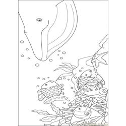 Rainbow Fish001 (6) Free Coloring Page for Kids