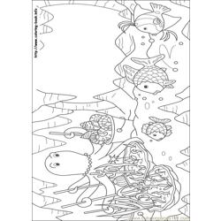 Rainbow Fish 03 coloring page