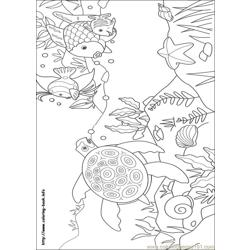 Rainbow Fish 10 coloring page