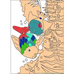 Rainbow Fish001 coloring page