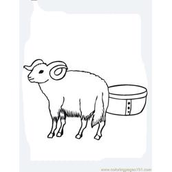 Ram Free Coloring Page for Kids