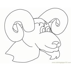 Ram head Free Coloring Page for Kids
